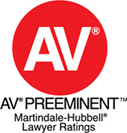 AV Preeminent - Martindale-Hubbell Lawyer Ratings